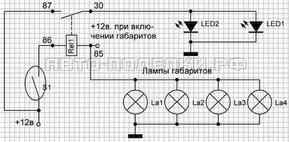 Как подключить ДХО: подключение ДХО через реле, от лампочки давления масла, другие схемы