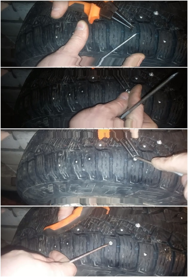 Дошиповка зимних шин своими руками: тонкости и нюансы