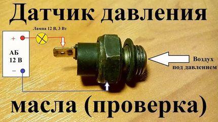Датчик давления масла: устройство, принцип работы и проверка