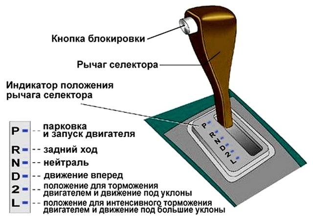 Кнопка на рычаге АКПП: назначение и функции